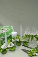 Украшения на шампанское, бокалы, свечи
